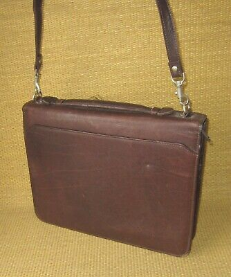 Folio Wilsons Brown Leather 1 Rings Full-size Plannerbinder Cover Briefcase