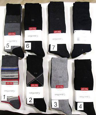 CALVIN KLEIN 4 Pack Men's Cotton Dress Socks Black Gray Navy MultiColor NEW (Calvin Klein Mens Socks)