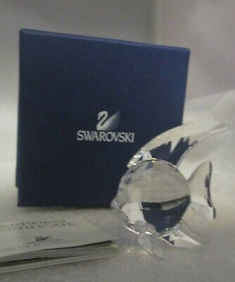 Swarovski Crystal Figurine Clear Fish NEW NIB +Booklet