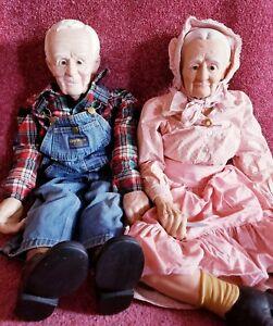 Grandma and Grandpa dolls William Wallace dolls 34 inches