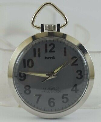 Vintage HMT 17Jewels Winding Pocket Watch For Unisex Use Working Good D-235-22