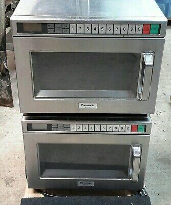 2 Panasonic Ne-17521 1700 Watts Compact Commercial Microwave 240v