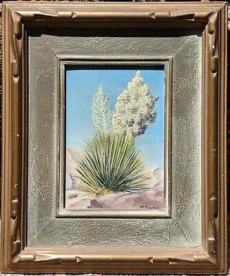 1930s Primitive Western Desert Painting Joshua Tree Jeffrey Pine Southwest Art ()