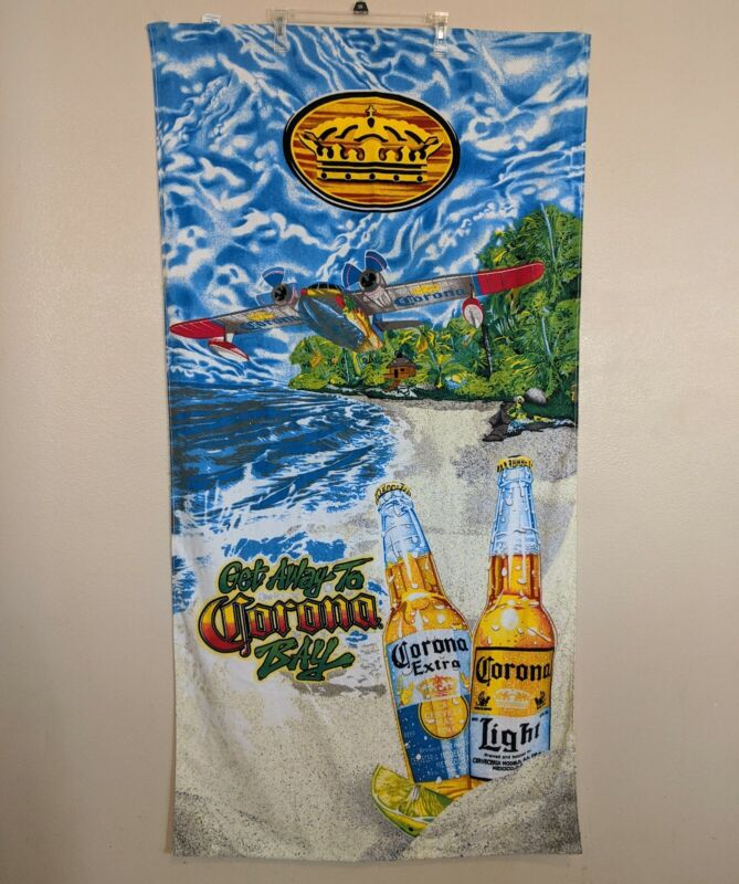 Corona Extra Fina Beach Towel Get Away To Corona Bay Light Paradise Seaplane