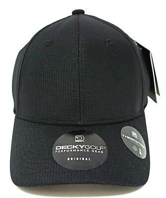 DECKY GOLF Performance Gear Cap Hat Thermotrol Flex OSFM Adjustable Black NWT Osfm Flex Cap