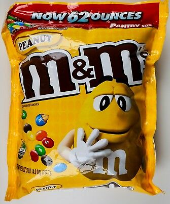 M Ms Peanut Chocolate Candies Family Pantry Size Resealable  62 Or 124 Oz