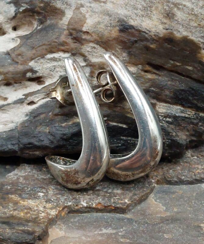 Vintage Sterling Silver Hook Pierced Earrings Fine Retro Lot