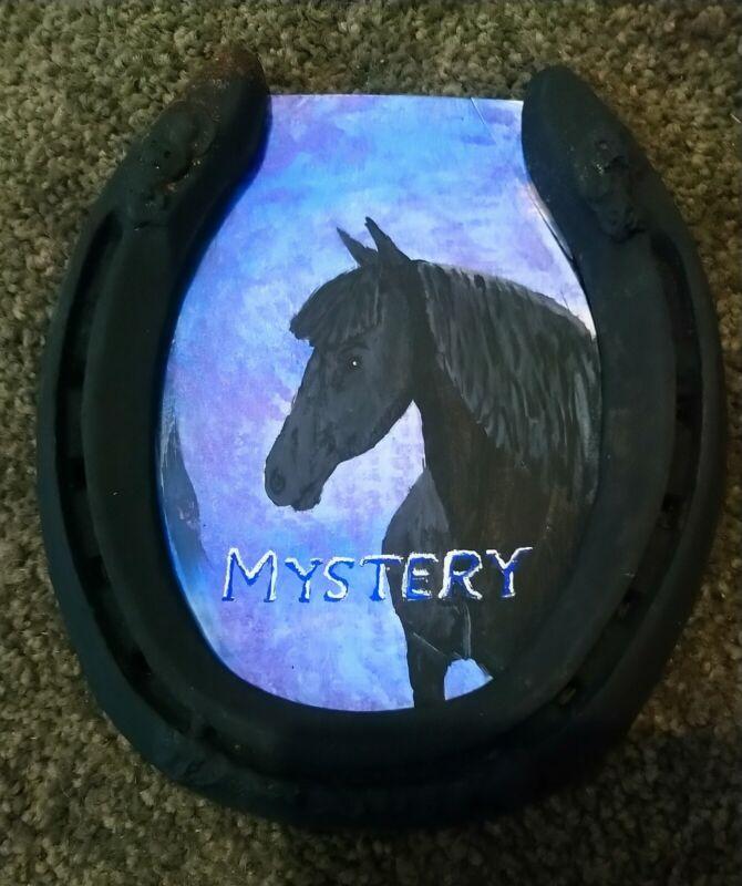 Hand painted Custom Horseshoe Name Plate For Horse Stalls