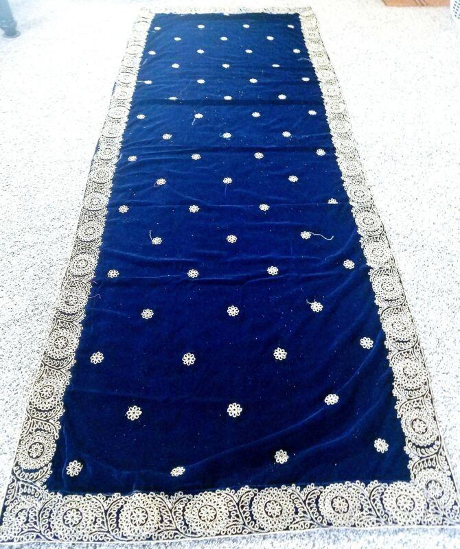 Valvet Dupata phulkari wrap shawl stole indian Bollywood Pakistani wedding party