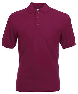 polo shirt xxxl burgundy 52 54 chest ebay. Black Bedroom Furniture Sets. Home Design Ideas