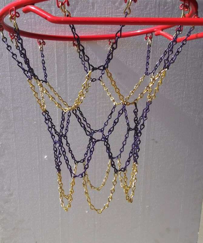 Basketball Chain net lakers themed