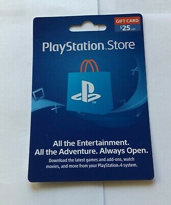 Sony PlayStation 25 $ Store Gift Card for PS4/PS3/PS Vita