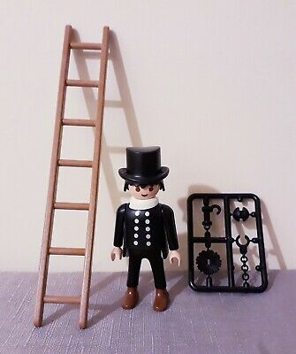 Playmobil Chimney Sweep, accessories, city life, victorian, vintage figure,house