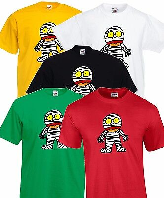 Cartoon Mummy Eqyptian Halloween Party T Shirt Costume Childrens Kids - Mummy Cartoon Halloween