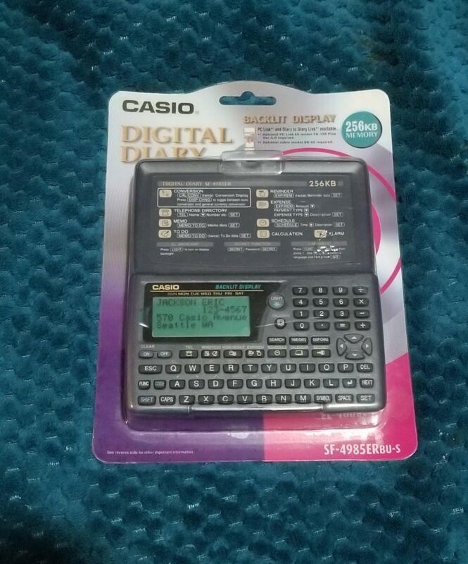 New Vintage Casio SF-4985er 256kb Digital Diary