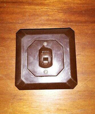 Vintage Rare Art Deco Square bakelite light switch