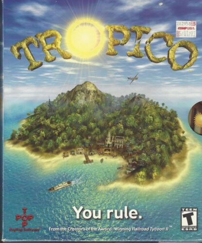 """Vintage_""""Tropico""""_Original Rare_Big Box PC WINDOWS Complete Software Game"""