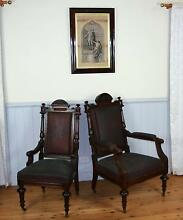 Gothic Gentleman's & Lady's Armchairs C.1880 Mount Victoria Blue Mountains Preview