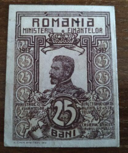 25 Bani 1917 Ferdinand Romania