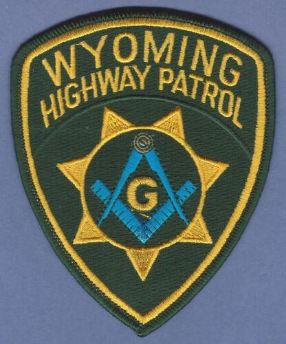 WYOMING HIGHWAY PATROL POLICE MASONIC LODGE SHOULDER PATCH