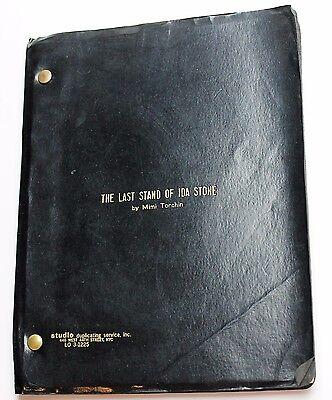 The Last Stand of Ida Stone * TV Script Unproduced 2 Hour Drama, by Mimi Torchin