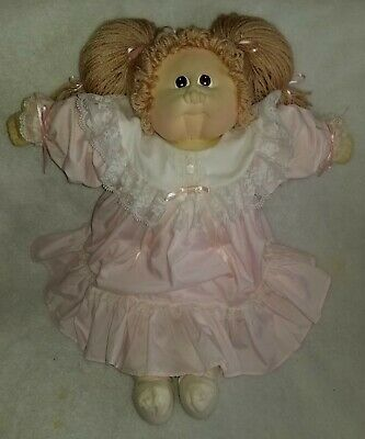 Cabbage Patch Kids Little People Soft Sculpture Doll 1984 Beautiful clean dress