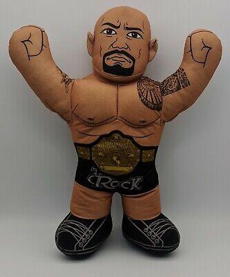 "The Rock WWE Brawlin' Buddies Plush Wrestling Toy 16"" Mattel 2012"