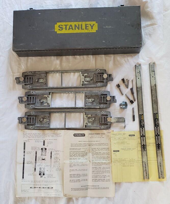 Stanley 83002.01 Door Jamb Butt Templet in Toolbox VTG 1978 w/ Instructions