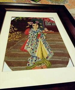 Geisha stitched goblen dating back to WW2