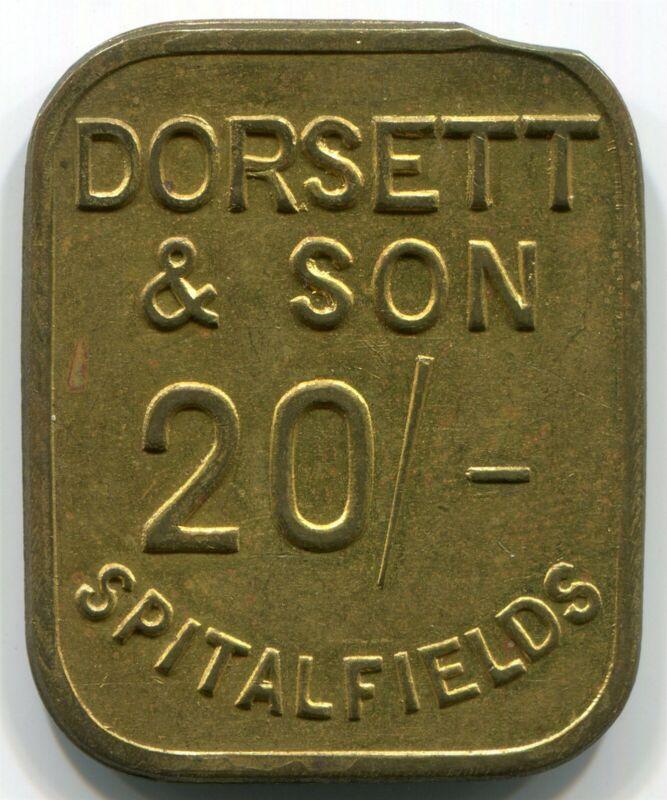Great Britain, Spitalfields - Dorsett & Son 20 shilling Token
