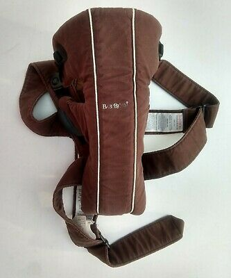 Baby Bjorn Infant Baby Carrier Wrap Chocolate Brown Adjustable Used Condition for sale  Shipping to India