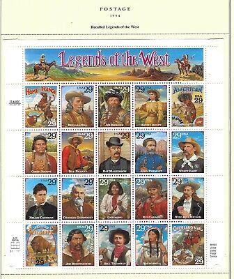 Scott 2870 Legends Of the West  (Recalled)