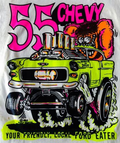 vTg 55 Chevrolet 56 Chevy 57 Bel Air 59 rat rod BDR ratfink 70s T-Shirt Iron On