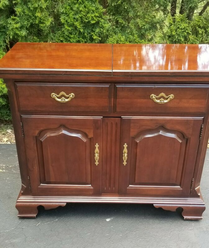 Thomasville Traditional Cherry Sideboard Server with flip out top