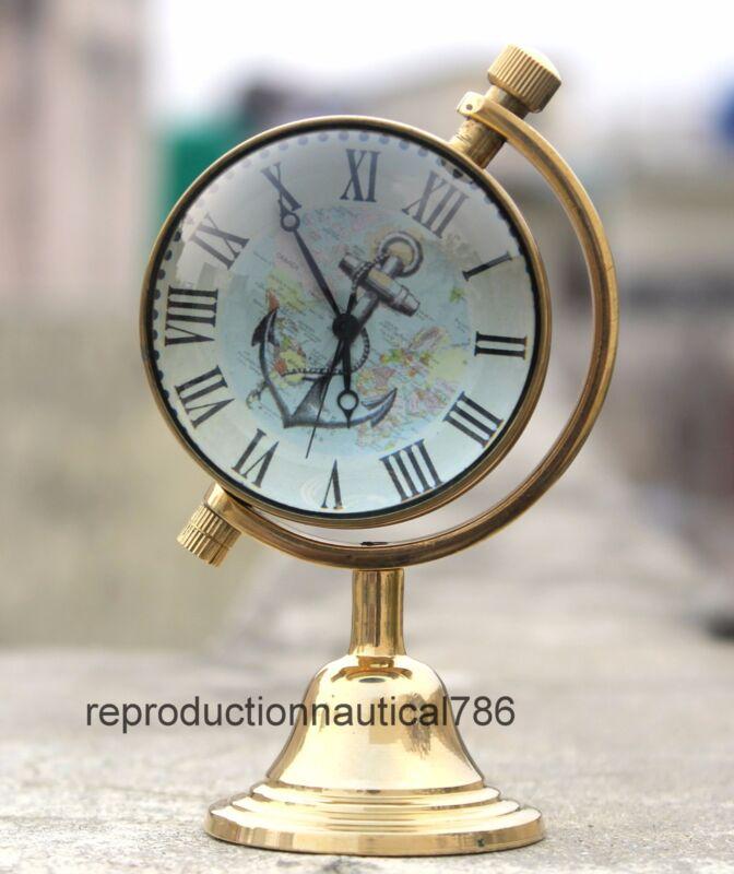 Vintage Brass Marine Desk Working Watch Collectible Tabletop Nautical Watch Gift
