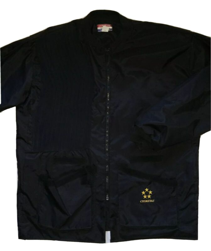 Chimere Black Nylon Shooting Jacket Mens 2XL Quilted Patch Elastic Cuff USA Made