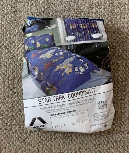 STAR TREK  WINDOW CURTAINS  ONE PAIR  UNUSED  C. 1986  USA  ABERDEEN