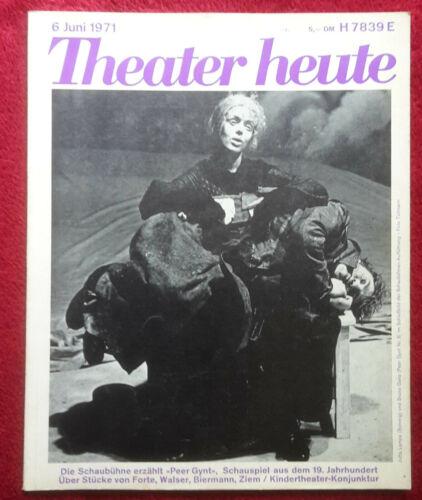 Theater heute - Ausgabe Juni 1971