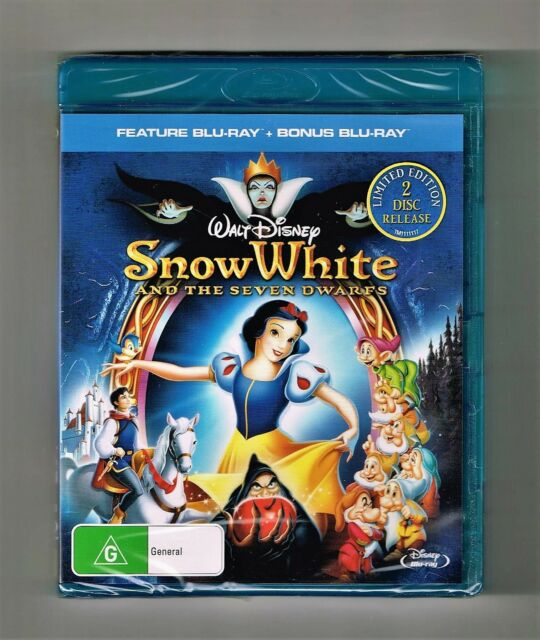 Snow White and the Seven Dwarfs - Limited Edition 2-Disc Blu-Ray New & Sealed