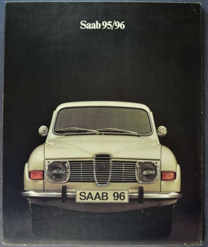 1972 Saab 96 Sedan 95 Wagon Sales Brochure Folder Excellent Original 72