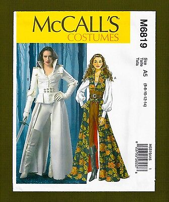 Steampunk Warrior Sewing Pattern~Corset Coat Top (Sizes 6-14) McCalls 6819 - Warrior Corset
