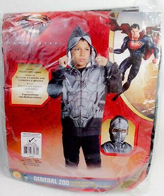 Superman General ZOD Man Of Steel Tween Costume Sz M Hoodie W/ Zipper Halloween