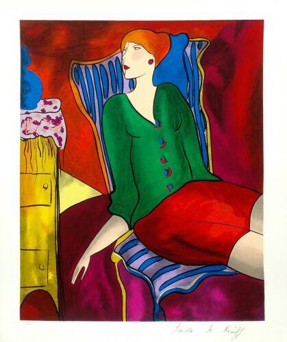 "Linda Le Kinff ""untitled""  1997 | Hand Signed Serigraph | Coa | Make An Offer"