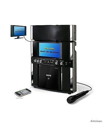 AKAI KS-800 FRONT LOAD CD+G KARAOKE PLAYER MACHINE SYSTEM w/ COLOR SCREEN NEW