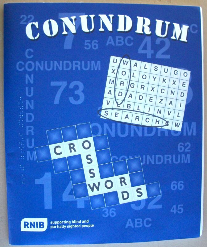 Conundrum Word Search And Crossword Puzzles Braille for the Blind
