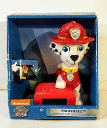 Paw Patrol Marshall Kids Night Light Alarm Clock w/ Sound Nickelodeon BulbBotz