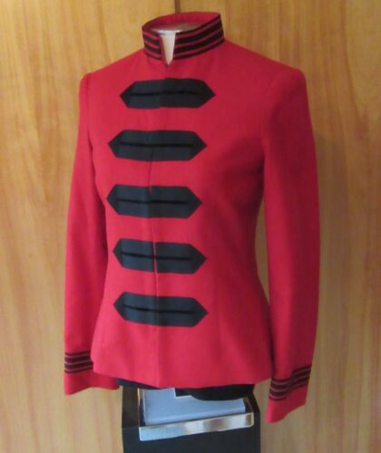 J. McLaughlin Red Wool Fitted Jacket Fully Lined Quality Size 4 S VGC