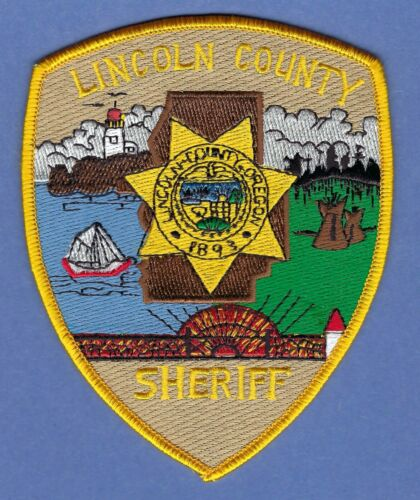 LINCOLN COUNTY SHERIFF OREGON POLICE SHOULDER PATCH