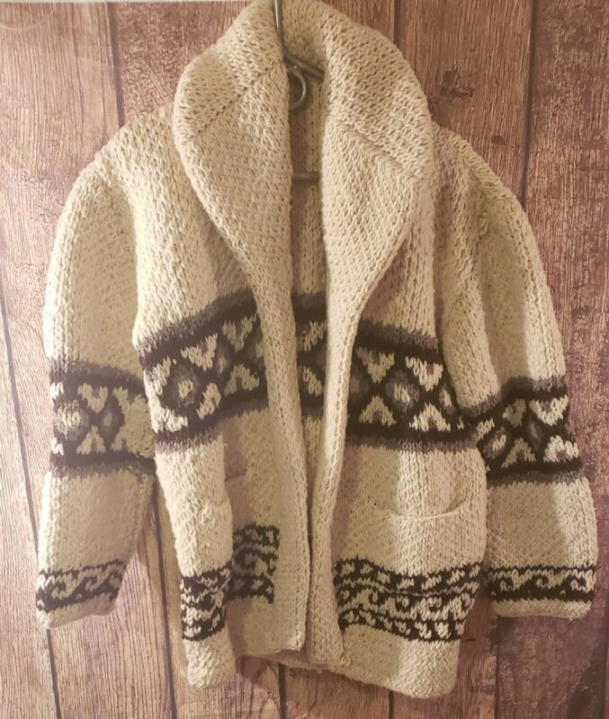 Vintage Western cardigan heavy knit mens sweater