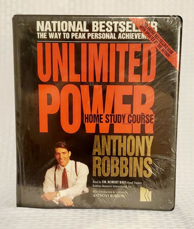 RARE - NEW SEALED - Antony Robbins UNLIMITED POWER HOME STUDY COURSE-tapes/book